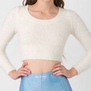 American Apparel Cropped Eyelash Sweater
